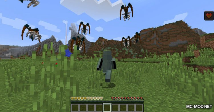 Scape and Run Parasites mod for Minecraft (5)