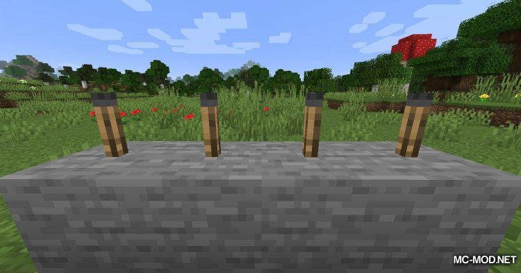 Unlit Torches mod for Minecraft (4)