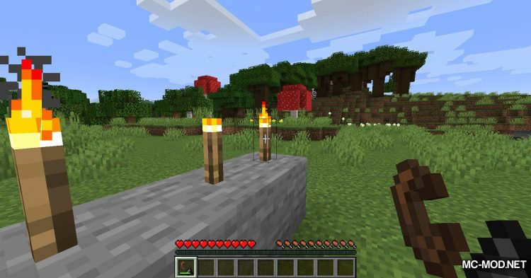 Unlit Torches mod for Minecraft (6)