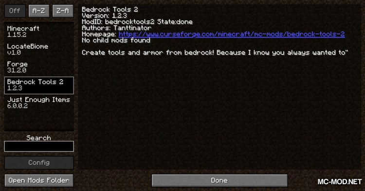 Bedrock Tools 2 mod for Minecraft (1)