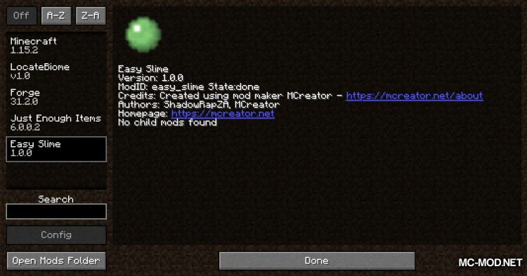 Easy Slime mod for Minecraft (1)