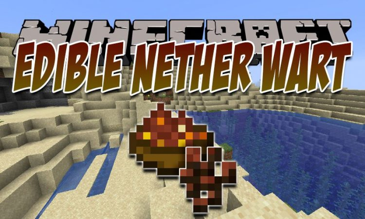 Edible Nether Wart mod for Minecraft logo