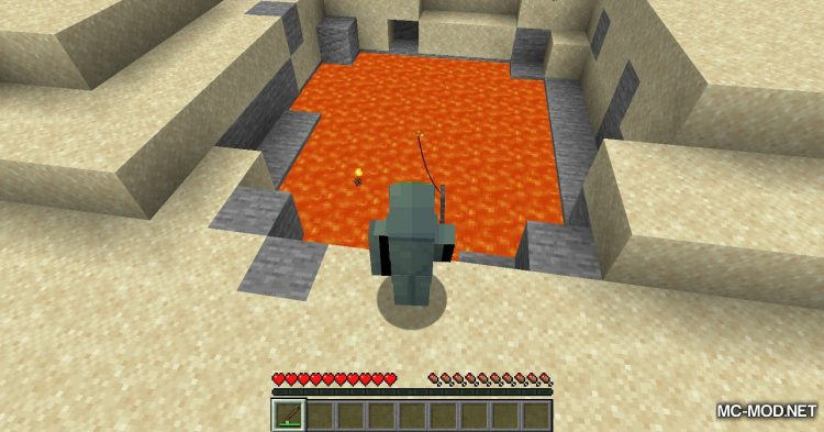 Lava Fishing mod for Minecraft (11)