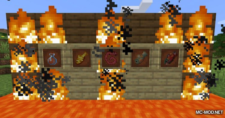 Lava Fishing mod for Minecraft (13)