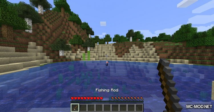 Lava Fishing mod for Minecraft (3)