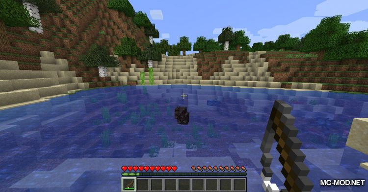 Lava Fishing mod for Minecraft (4)
