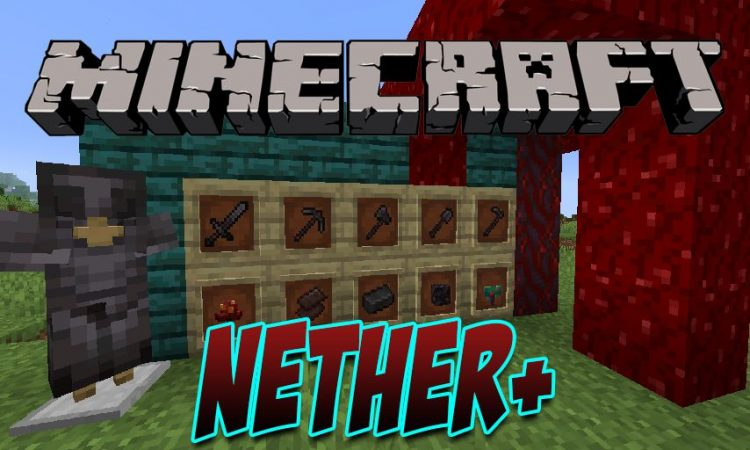 Nether+ mod for Minecraft logo