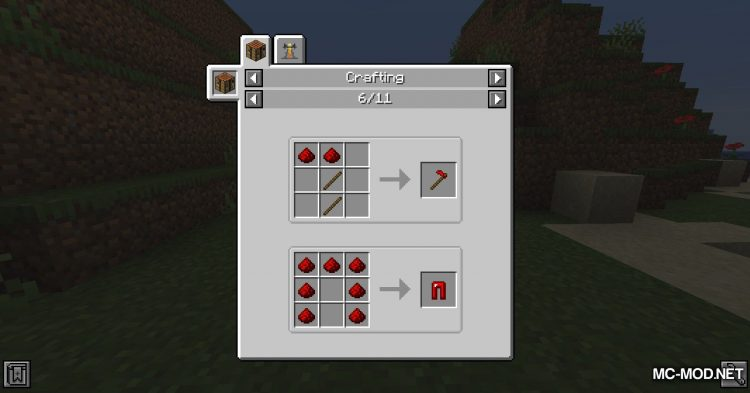 Redstone Tools mod for Minecraft (2)