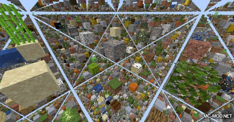Skygrid mod for Minecraft (3)