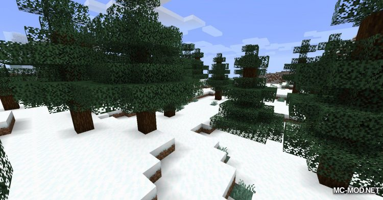 Snowy Leaves mod for Minecraft (4)