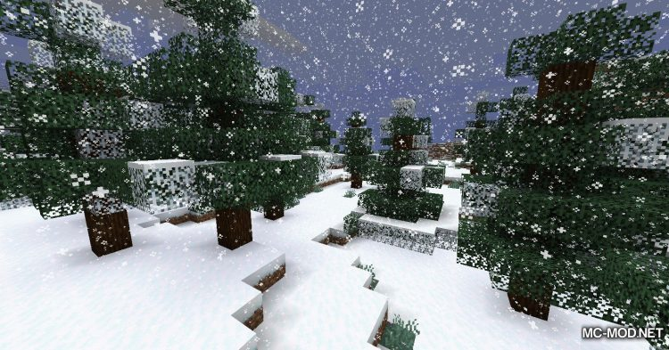Snowy Leaves mod for Minecraft (5)