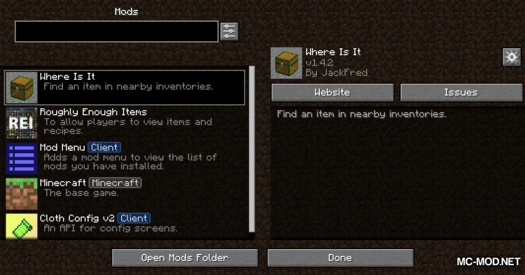 Where Is It mod for Minecraft (1)