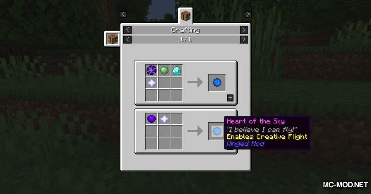 Winged mod for Minecraft (19)