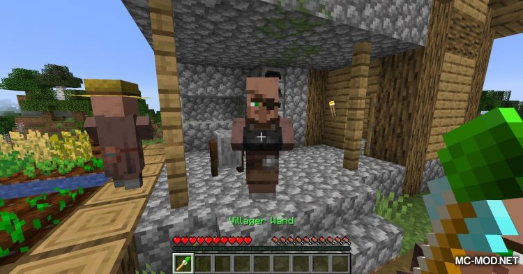Cubic Villager mod for Minecraft (2)