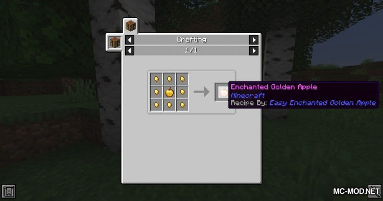 Easy Enchanted Golden Apple Recipe mod for Minecraft (7)