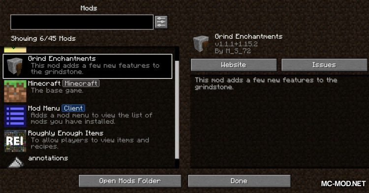 Grind Enchantments mod for Minecraft (1)