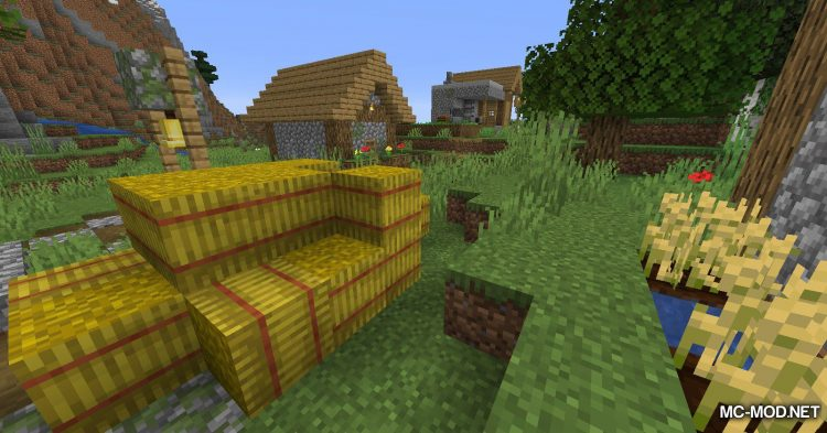 Softer Hay Bales mod for Minecraft (10)