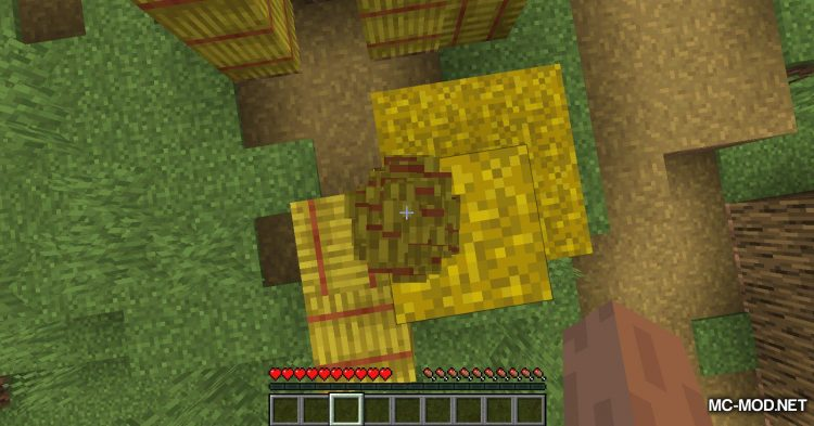 Softer Hay Bales mod for Minecraft (4)
