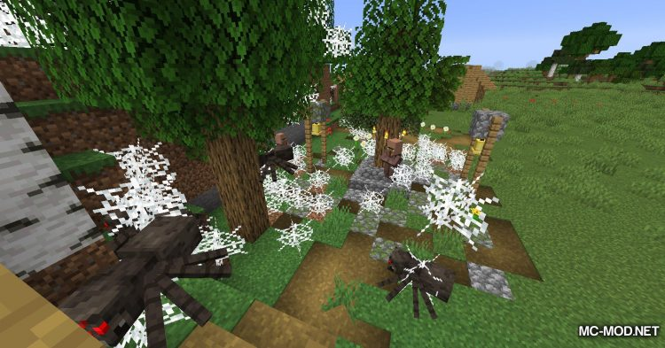 Spiders Produce Webs mod for Minecraft (5)