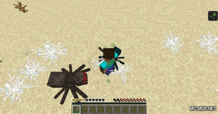 Spiders Produce Webs mod for Minecraft (9)