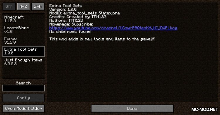 Tool Additions mod for Minecraft (1)
