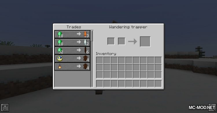 Wandering Trapper mod for Minecraft (5)