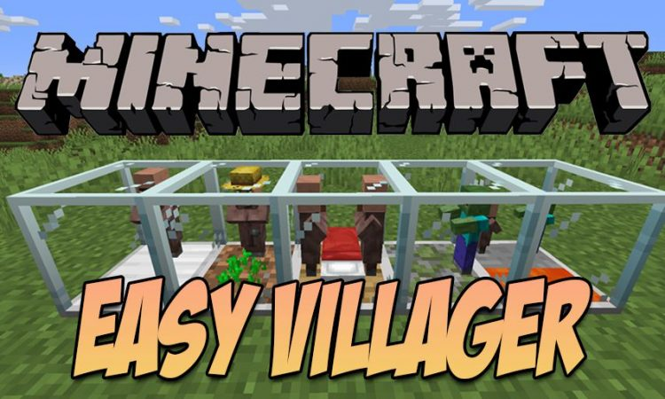 Easy Villager mod for Minecraft logo