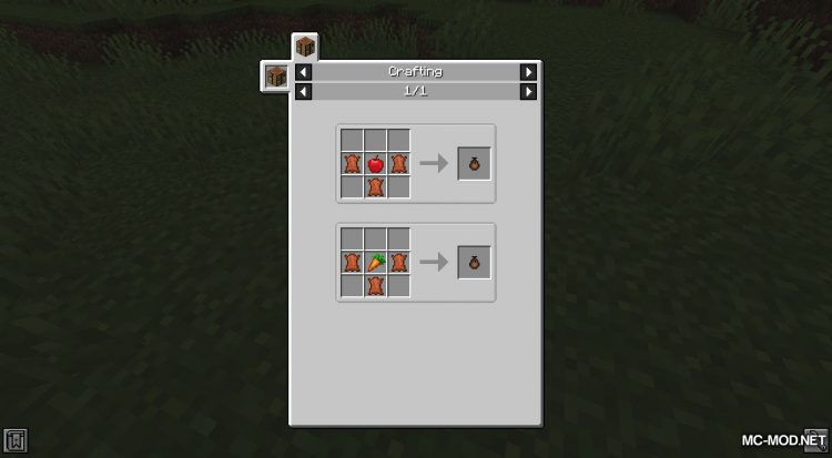 Food Pouches mod for Minecraft (2)
