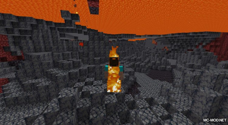 Lava Clear View mod for Minecraft (8)