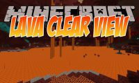 Lava Clear View mod for Minecraft logo