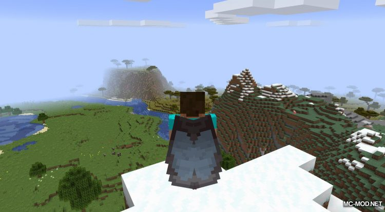 Netherite Elytra mod for Minecraft (7)