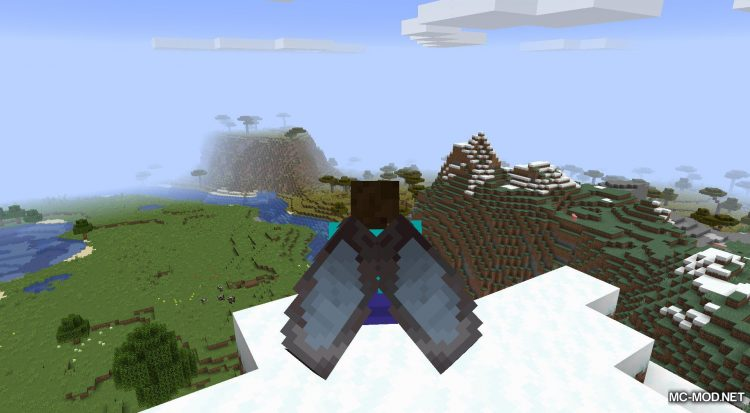 Netherite Elytra mod for Minecraft (8)