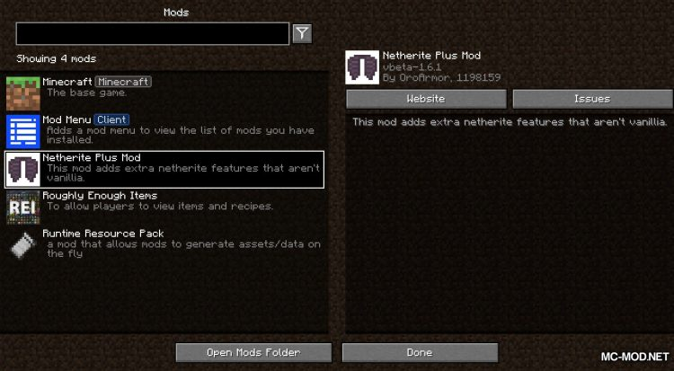 Netherite Plus mod for Minecraft (1)