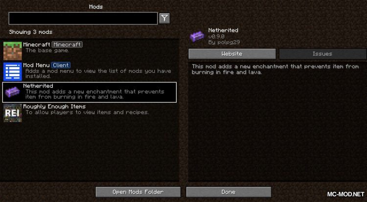 Netherited mod for Minecraft (1)
