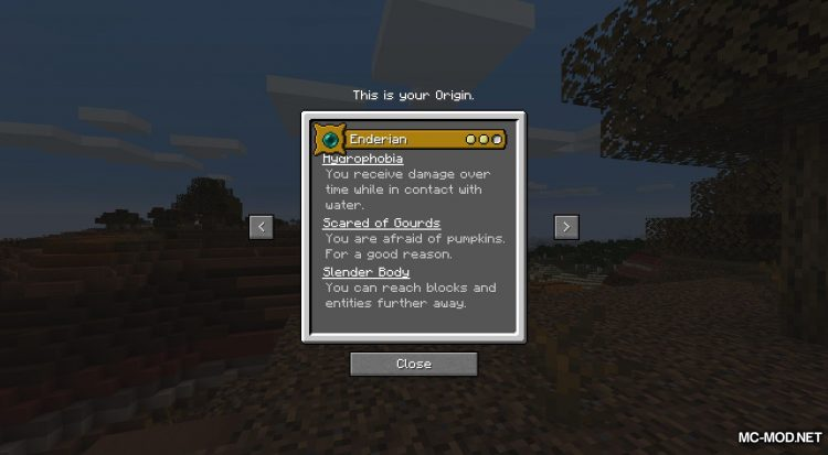 Origins mod for Minecraft (4)
