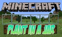 Plant In A Jar mod for Minecraft logo