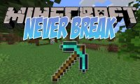 Never Break mod for Minecraft logo