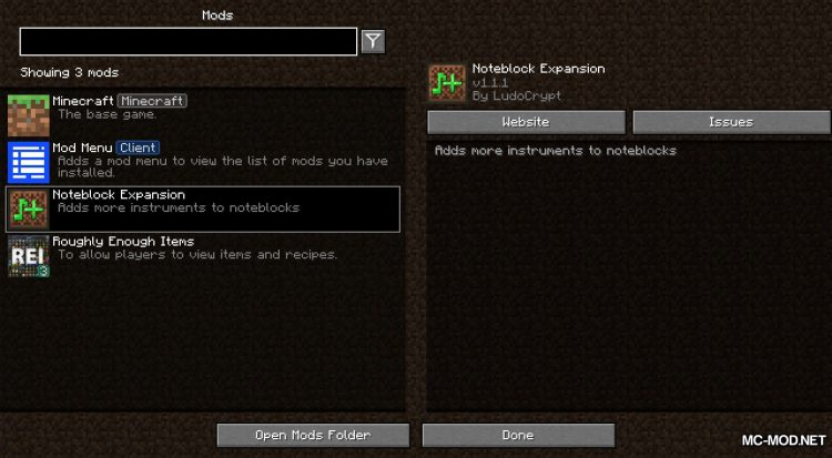 Noteblock Expansion mod for Minecraft (1)