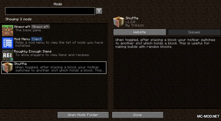 Shuffle mod for Minecraft (1)